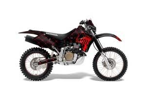 Honda XR650R Dirt Bike Graphic Kit - 2000-2010 Silver Star - Reloaded Black
