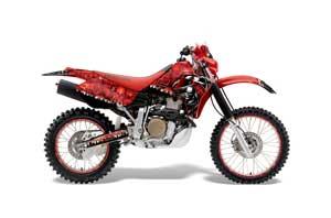 Honda XR650R Dirt Bike Graphic Kit - 2000-2010 Reaper Red
