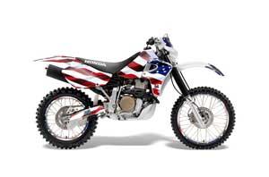 Honda XR650R Dirt Bike Graphic Kit - 2000-2010 Stars and Stripes Red White & Blue