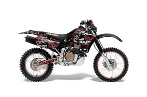 Honda XR650R Dirt Bike Graphic Kit - 2000-2010 Silver Star - Silverhaze Red