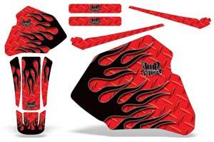 Honda CRF250 L Enduro Dirt Bike Graphic Kit - 2013-2016 Flashback Diamond Flame