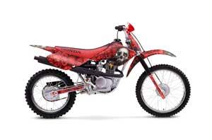 Honda XR100 Dirt Bike Graphic Kit - 2001-2003 Bone Collector Red