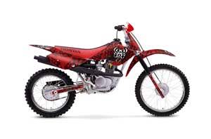 Honda XR80 Dirt Bike Graphic Kit - 2001-2003 Widow Maker Red