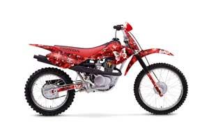 Honda XR100 Dirt Bike Graphic Kit - 2001-2003 Butterfly Red