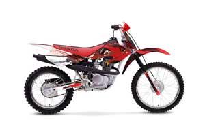 Honda XR100 Dirt Bike Graphic Kit - 2001-2003 Carbon X Red
