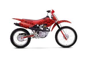 Honda XR100 Dirt Bike Graphic Kit - 2001-2003 Digicamo Red