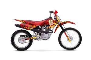 Honda XR100 Dirt Bike Graphic Kit - 2001-2003 Motorhead Mandy Red