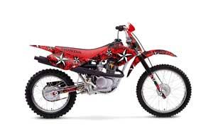 Honda XR100 Dirt Bike Graphic Kit - 2001-2003 Northstar Red