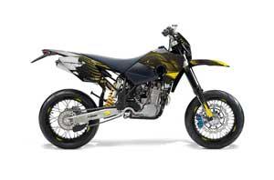 Husaberg FS / FE Dirt Bike Graphic Kit - 2006-2008 Carbon X Yellow