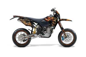 Husaberg FS / FE Dirt Bike Graphic Kit - 2006-2008 Firestorm Black