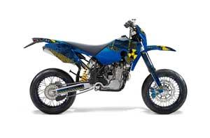 Husaberg FS / FE Dirt Bike Graphic Kit - 2006-2008 Meltdown Blue