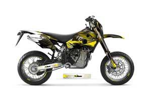 Husaberg FC / FE / FS 400 Dirt Bike Graphic Kit - 2001-2005 Carbon X Yellow