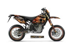 Husaberg FC / FE / FS 400 Dirt Bike Graphic Kit - 2001-2005 Firestorm Black