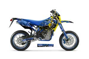 Yamaha YZ250 F Dirt Bike Graphic Kit - 2003-2005 Urban Camo Blue Reaper