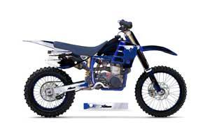Husaberg FC 501 Dirt Bike Graphic Kit - 1997-1999 Carbon X Blue