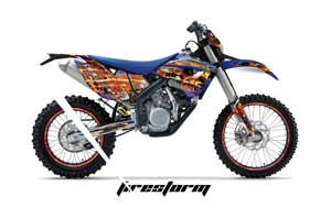 Husaberg FS / FE 450 Dirt Bike Graphic Kit - 2009-2012 Firestorm Blue