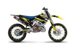 Husaberg TC / FC 300 Dirt Bike Graphic Kit - 2013-2014 Attack Yellow
