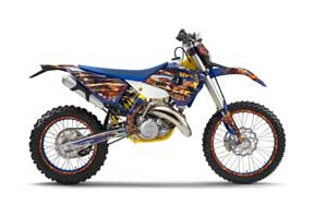 Husaberg TE 125 Dirt Bike Graphic Kit - 2011-2012 Firestorm Blue