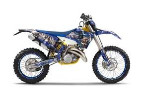Husaberg TE 300 Dirt Bike Graphic Kit - 2011-2012 Mad Hatter Blue