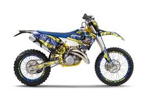 Husaberg TE 300 Dirt Bike Graphic Kit - 2011-2012 Mad Hatter Yellow