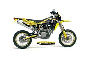 Husqvarna TC / TE 450 Dirt Bike Graphic Kit - 2005-2010 Reaper Yellow