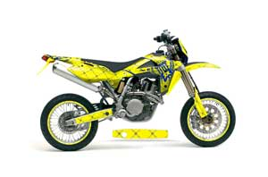 Husqvarna TC / TE 250 Dirt Bike Graphic Kit - 2005-2008 Silver Star - Reloaded Yellow