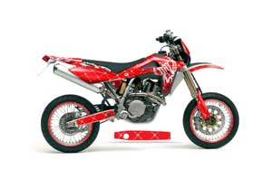 Husqvarna TC / TE 250 Dirt Bike Graphic Kit - 2005-2008 Silver Star - Reloaded Red