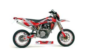 Husqvarna TC / TE 250 Dirt Bike Graphic Kit - 2005-2008 T Bomber Red