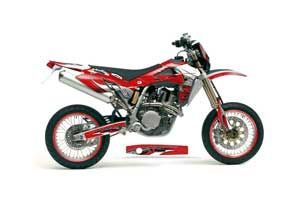 Husqvarna TC / TE 250 Dirt Bike Graphic Kit - 2005-2008 Tribal Flames Red