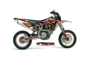 Husqvarna SM / SMR 450 / 530 Dirt Bike Graphic Kit - 2005-2010 Firestorm Red