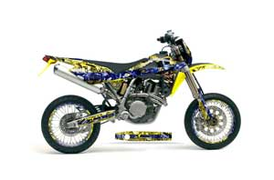 Husqvarna TC / TE 450 Dirt Bike Graphic Kit - 2005-2010 Mad Hatter Yellow