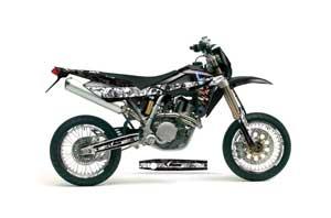 Husqvarna TC / TE 450 Dirt Bike Graphic Kit - 2005-2010 Mad Hatter Black