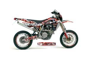 Husqvarna TC / TE 450 Dirt Bike Graphic Kit - 2005-2010 Mad Hatter Red