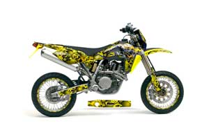 Husqvarna TC / TE 450 Dirt Bike Graphic Kit - 2005-2010 Motorhead Yellow
