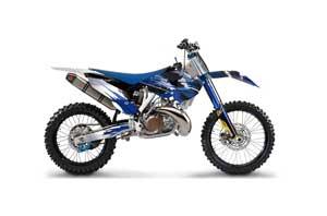 Husqvarna TC / FC 250 Dirt Bike Graphic Kit - 2014-2016 Carbon X Blue