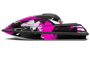Kawasaki 750 SX / SXR Jet Ski Graphic Kit - 1992-1998 Carbon X Pink