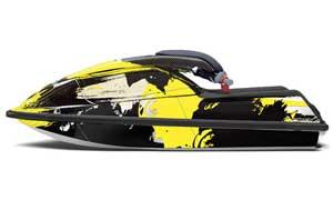Kawasaki 750 SX / SXR Jet Ski Graphic Kit - 1992-1998 Carbon X Yellow