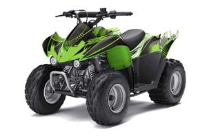 Kawasaki KFX 50 / 90 ATV Graphic Kit - 2007-2016 Carbon X Green