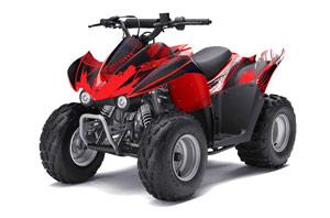Kawasaki KFX 50 / 90 ATV Graphic Kit - 2007-2016 Carbon X Red