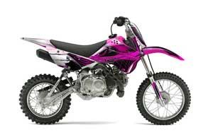 Kawasaki KLX110 Dirt Bike Graphic Kit - 2010-2016 Carbon X Pink