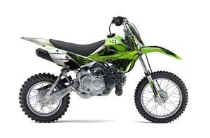 Kawasaki KLX110 Dirt Bike Graphic Kit - 2010-2016 Carbon X Green