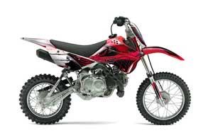 Kawasaki KLX110 Dirt Bike Graphic Kit - 2010-2016 Carbon X Red