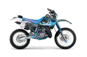 Kawasaki KDX200 Dirt Bike Graphic Kit - 1989-1994 Carbon X Blue