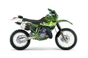 Kawasaki KDX200 Dirt Bike Graphic Kit - 1989-1994 Carbon X Green