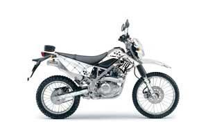 Kawasaki KLX125 D Tracker Dirt Bike Graphic Kit - 2010-2016 Silver Star - Reloaded Black