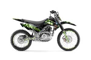 Kawasaki KLX140 Dirt Bike Graphic Kit - 2008-2018 Mad Hatter Green