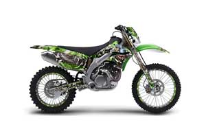 Kawasaki KLX450 Enduro Dirt Bike Graphic Kit - 2008-2016 Mad Hatter Green