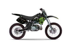 Kawasaki KX250 Dirt Bike Graphic Kit - 1992-1993 Silver Star - Reloaded Green