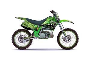 Kawasaki KX250 Dirt Bike Graphic Kit - 1992-1993 Reaper Green