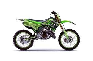 Honda CRF80 Dirt Bike Graphic Kit - 2004-2010 Silver Star - Reloaded Pink Reaper